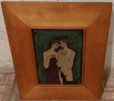 Dobrovits Ferenc ( 1941 - 1988) cím nélküli festménye