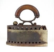 1E563 Antik Zagroczky Patent Express öntöttvas szenes vasaló