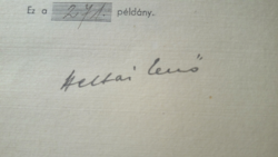 ALÁÍRT! Heltai Jenő: Elfelejtett versek, 1947 - számozott példány, verseskötet, irodalom