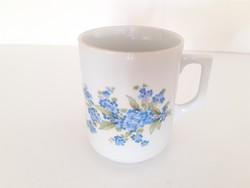 Régi Zsolnay porcelán bögre nefelejcses teás csésze 1 db