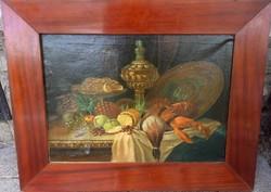 Eugene Claude - gyümölcs csendélet homárral és kacsával