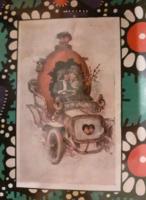 """Képeslap 1922-ből (138mm x 88mm) Wiener Werkstatte - 100 éves """"műemlék"""" gyűjtőknek"""