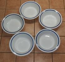 Alföldi porcelán csemegéstányér, kompótos tányér, savanyús tálka
