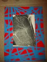 Dobrovits Ferenc grafikája, teljes méret 50x70, karton paszpartu