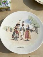 Sarreguemines porcelán tányérok
