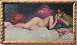 Norman Lindsay (1879-1969) Nude portré egy hölgyről