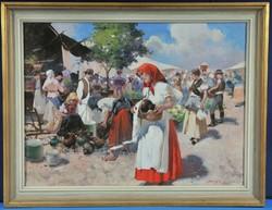 Witman Etelka Vizkeleti (1882-1962) Piaci életkép