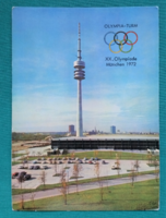 Németország,München,Olimpiatorony,postatiszta képeslap,1972