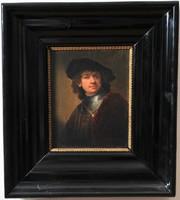 Rembrandt van Rijn (1606-1669) után, fiatalkori önarckép