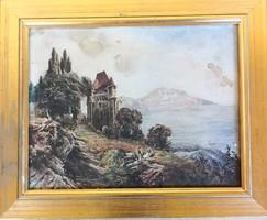 Ismeretlen művész – Vár a hegyen című festménye – 174.