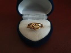 Gyönyörű 14K arany gyűrű cirkóniával 3.
