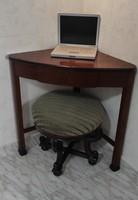 Sarok asztal, konzol asztal, Biedermeier,Bíder Antik Home office, toalett asztal posztamens,