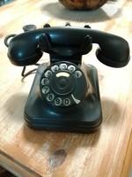 Bakelit tárcsás telefon,fekete,retro
