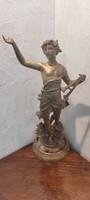 Szecesszió, szobor Szignàlt, Francia,szép DAPHNIS PAR GUILLEMIN