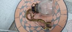 Falikar,fali làmpa réz-rokokó,barokk stílusú, csiszolt üveges felcsavarható!