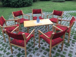 Retro karfás széket asztallal