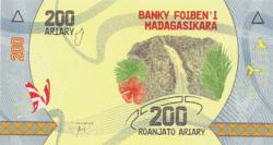 Madagaszkár 200 Ariary 2017 UNC