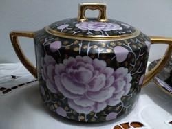 Kézi festett antik teás készlet