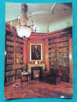 Magyarország,Keszthely,Festetics-kastély,Helikon könyvtár,postatiszta képeslap,1988