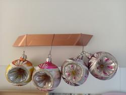 Régi,retro üveg karácsonyfadíszek