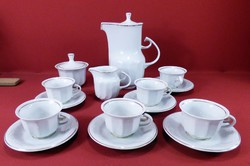 Hollóházi kávéskészlet 6 személyes artdeco