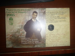 Dísztokos József Attila forgalmi sor 2005-ből  eladó!UNC BU