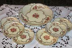 Gyönyörű ritka Zsolnay süteményes készlet