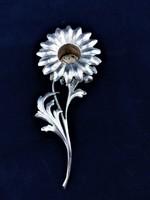 Ezüst virág gyertyatartó 925-ös
