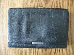 Régi bőr csatos pénztárca