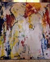Jónás Erzsébet - Az igen előtt - olajvászon festmény - 100x110 cm