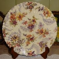 Sarreguemines fajansz  süteményes tányér Lavalliere  dekorral.