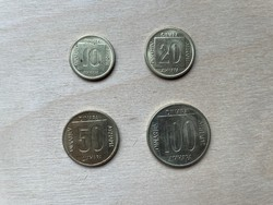 Jugoszlávia Dinár sor 1988-89
