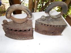 2db faszenes antik vasaló