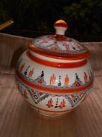Kézzel festett porcelán keksztartó