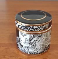 Szász Endre porcelán tégely/doboz, fekete színben – Limitált kiadás