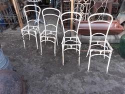 4 db antik vas kerti szék