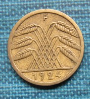 Régi német 5 Rentenpfennig  1924 F