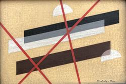 Absztrakt , konstruktivista festmény eladó