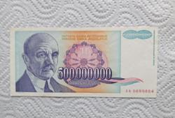 Jugoszláv  500 milliós dínár