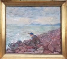 Udvary Dezső / Balatoni horgász
