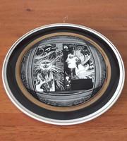 """Hollóházi Szász Endre porcelán falitányér """"Napfény"""" c. sorozatból – 15.5cm"""
