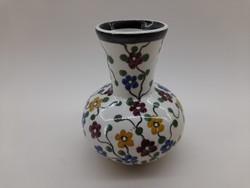 Városlődi antik  kis váza, ibolyaváza 8 cm