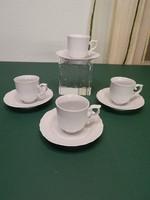 Hollóházi fehér kávéscsészék
