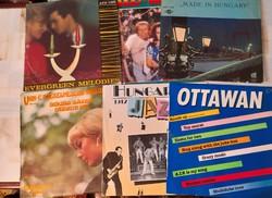 Retro régi bakelit hanglemezek. Régi slágerek, jazz felvételek.