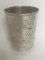 Antik orosz ezüst szecesszió madarak Kijev pohár