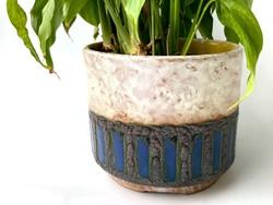 B. Várdeák ildikó applied art cracked glazed rare ceramic pot