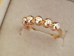Brilles button arany gyűrű 14k CSAK MA !!!