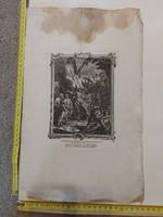 Philipp Andreas Kilian rézkarc, 1700-as évek második fele, dúc felett folt, méret jelezve!