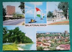 Balatonalmádi,mozaikképeslap,használt,1978