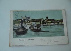 Antik régi Pozsony 1923 képeslap levelezőlap